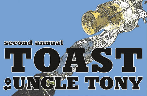 Second Annual Toast to Uncle Tony postcard