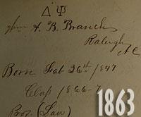 1863 signature book